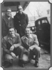 Back L-R: Pee Wee Lambert, Leslie Keith. Front L-R: Carter and Ralph. c.early 1947 outside WCYB studios.