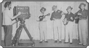 L-R: Pee Wee Lambert, Lester Woodie, Ralph and Carter on WSAZ TV 1950