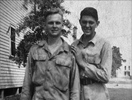 Ralph (left) in his army days
