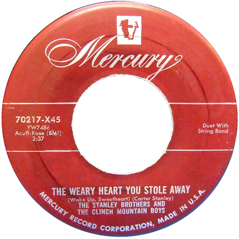 This Weary Heart You Stole Away (early 45)