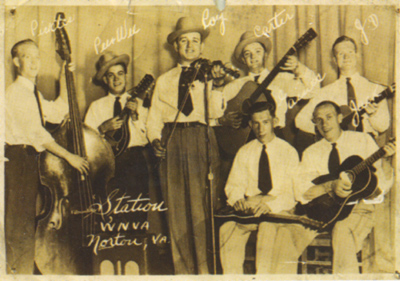 Roy Sykes and the Blue Ridge Mountsin Boys 1946, St. Paul Va. auditorium.