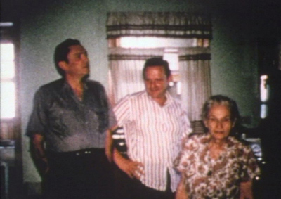 Still from Norma Fannin's home movie footage of Carter, Ralph and their mother Lucy.