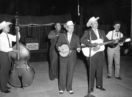 Suwanne River Jamboree 1959. L-R: unknown, Chubby Anthony, Ralph, Carter, Al Elliot